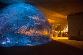 Osmo installation by Loop.pH design. Canning town, London, 2014